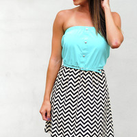 Just For Hope Dress: Spearmint/Chevron | Hope&#x27;s