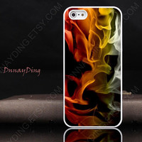 Custom design, Smoke Abstract Smoke Rainbow  for iphone 4 iphone 5 case HTC case i9300
