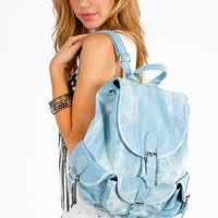 Debbie Denim Backpack $49