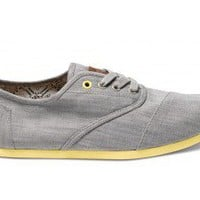Grey Denim Yellow Pop Men&#x27;s Cordones | TOMS.com