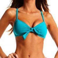 Vitamin A Silver 2013 Push Up Turquoise Bikini