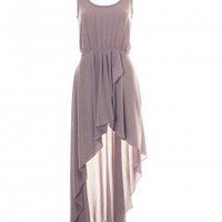 LOVE Rose Asymmetrical Maxi Dress - Love