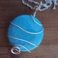pool of turquoise necklace from Treasured Perfections