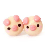 Handmade Gifts | Independent Design | Vintage Goods Tiny Piggy Stud Earrings - Jewelry - Girls