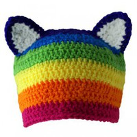Handmade Gifts | Independent Design | Vintage Goods Rainbow Kitty Hat  - Accessories - Girls