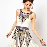 Ginger Fizz Prom Dress In Diamond Print at asos.com