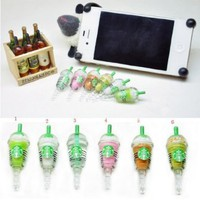 6 pcs (whole set) StarBucks Frappuccino, Milk Cell Phone Charm 3.5mm Anti Dust Earphone Jack Plug iphone 4 4S:Amazon:Cell Phones & Accessories