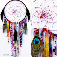 The Raven's Rune Native Woven Dreamcatcher