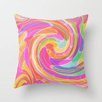 Yeah Baby! Throw Pillow by Glanoramay
