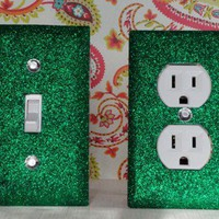 SET of FORREST GREEN Switch Plate / Outlet Covers ANY STYLES