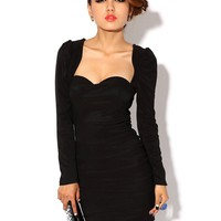 Krazy Sexy Club Cocktail Party Evening Dress #265 Black Size L