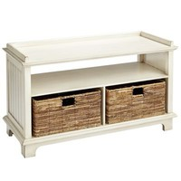 Holtom Storage Bench - Antique White