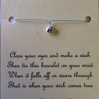 GOOD LUCK ELEPHANT Wish Bracelet Sterling by Jennasjewelrydesign