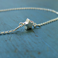 Sterling Silver Star Necklace Simple Flower Girl Gift Girl friend Gift single Star