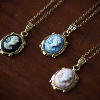 Tiny Cameo Necklace