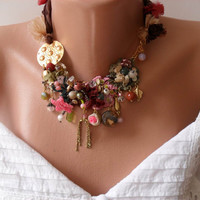 Gift - Unique and Colorful Necklace - Speacial Handmade Design - Summer Collection