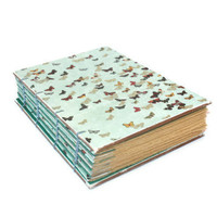 Butterfly Swarm Handmade Journal with Coptic Binding