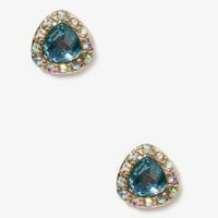 Bejeweled Triangle Studs | FOREVER 21 - 1043702770