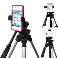 ChargerCity Exclusive Apple iphone 4S 4 3GS Samsung Galaxy S S1 S2 S3 5 HTC ONE X Motorola Droid 360º Multi Angel Adjustment Tripod Adapter