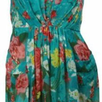 Amazon.com: Evan Picone Art of Dressing Chiffon Floral Dress 16 Bay Teal Combo [Apparel]: Clothing