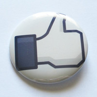 Facebook Like Pinback Button or Magnet by plaidpearls on Etsy