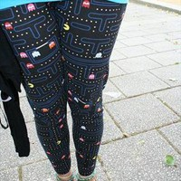 Pacman print leggings  from sugarandspikes