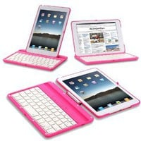 Exact 360 Degree Rotation Bluetooth Keyboard with Aluminum Shelf for IPAD MINI
