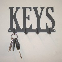 Steel Key Hanger with four Hooks | knobcreekmetalarts - Metal Craft on ArtFire