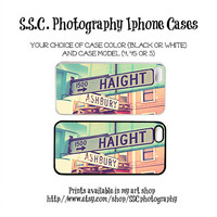 DISCONTINUING 5/6/13 Iphone Case. 4 case. 5 case. 4s case. Haight Ashbury. Girly. Pink. Mint blue. San Francisco. Street signs. iconic.