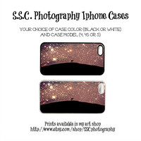 DISCONTINUING 5/6/13 Starry Iphone Case. Stars. purple. Love. Night sky. Iphone 5 case. iphone 4 case. 4s case. dreamy. girly iphone case.