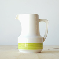 Noritake Craftone Morning Song Creamer Pitcher Ceramic Chartreuse