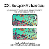 DISCONTINUING 5/6/13 Iphone 5 case. Iphone 4 case. 4s case. floral. flowers. bright. colorful. blue. orange. red. spring.