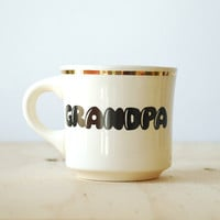 Vintage Grandpa Mug with Gold Rim