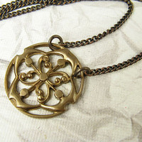 Sparrow's Compass Brass Necklace by CobwebCorner on Etsy