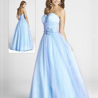 Ball Gown Floor-length Sweetheart Natural Waist Satin Prom Dresses