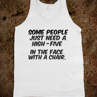 Some people just need a high five - Reveur - Skreened T-shirts, Organic Shirts, Hoodies, Kids Tees, Baby One-Pieces and Tote Bags
