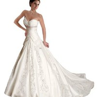 Amazon.com: Faironly J5 White Ivory Sweetheart Wedding Dress Bride Gown: Clothing