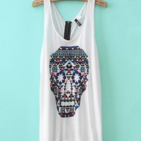 Skull Zipper Tank from ShopWunderlust