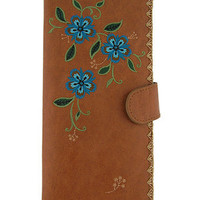 LAVISHY vegan leather/imitation leather large embroidered wallet