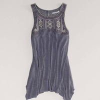 AE Embroidered Handkerchief Tank | American Eagle Outfitters