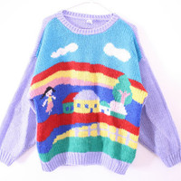 CUTEST EVER 80s Novelty Rainbow Sweater Dress - Unisex