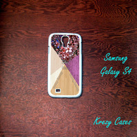 Samsung Galaxy S4 Case, Cherry Blossom on wood(not a real wood )Samsung Galaxy S4 case, Samsung Galaxy S3 Cases, Galaxy  S3 case