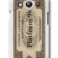 Personalized Hogwarts Express Train Ticket- Samsung Galaxy S3 Case Samsung Galaxy SIII Case ,