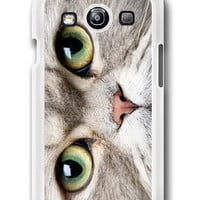 Personalized Cat Meow Face On Case- Samsung Galaxy S3 Case Samsung Galaxy SIII Case ,