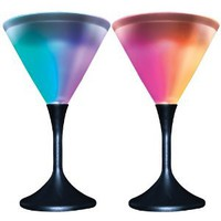 Amazon.com: Glowing Acrylic Frosted Color Changing Martini Glasses (Set of 2): Kitchen & Dining