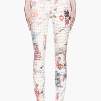 Mother Red Friends In High Places Patterned The Looker Jeans for women | SSENSE