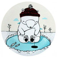 ShanaLogic.com - 100% Handmade & Independent Design! Polar Bear Mousepad - i love him!
