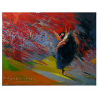 Ballerina Print - Dancer Print Canvas Art from original ballerina painting by Yuri Pysar