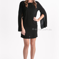 yasmine tunic/top - black at Esther Boutique