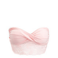 Twisted Lace Trim Bandeau Bra: Charlotte Russe